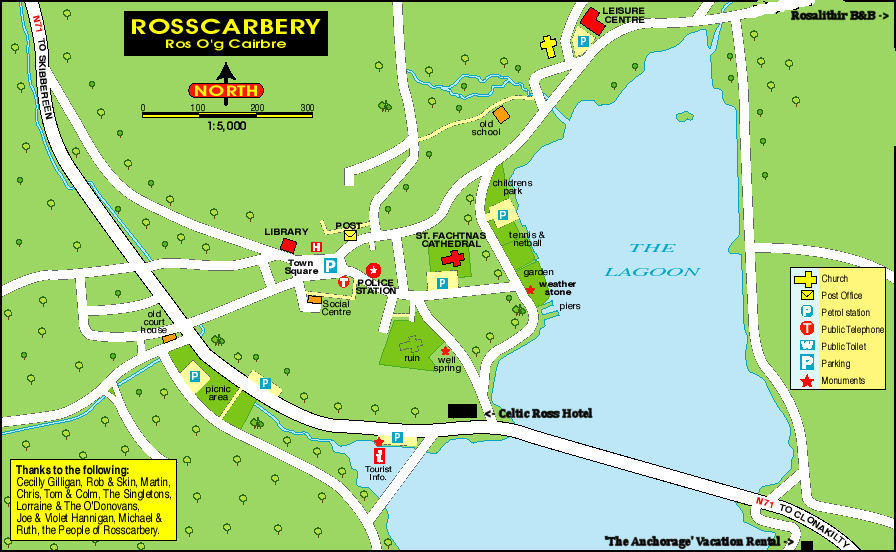 Rosscarbery Facilities Map
